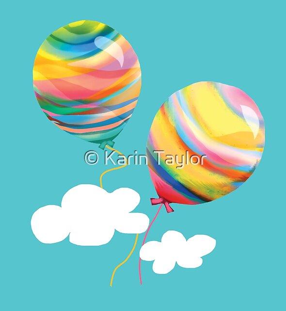 Sunshine Rainbow Balloons by Karin Taylor