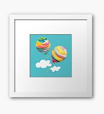 Sunshine Rainbow Balloons Framed Print
