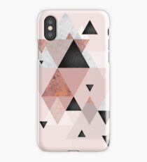 Geometric Compilation in Rose Gold and Blush Pink iPhone Case/Skin
