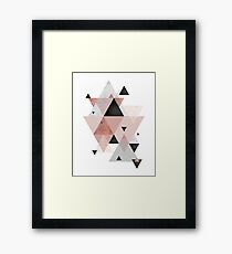 Geometric Compilation in Rose Gold and Blush Pink Framed Print