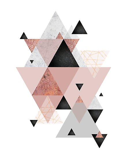 Quot Geometric Compilation In Rose Gold And Blush Pink