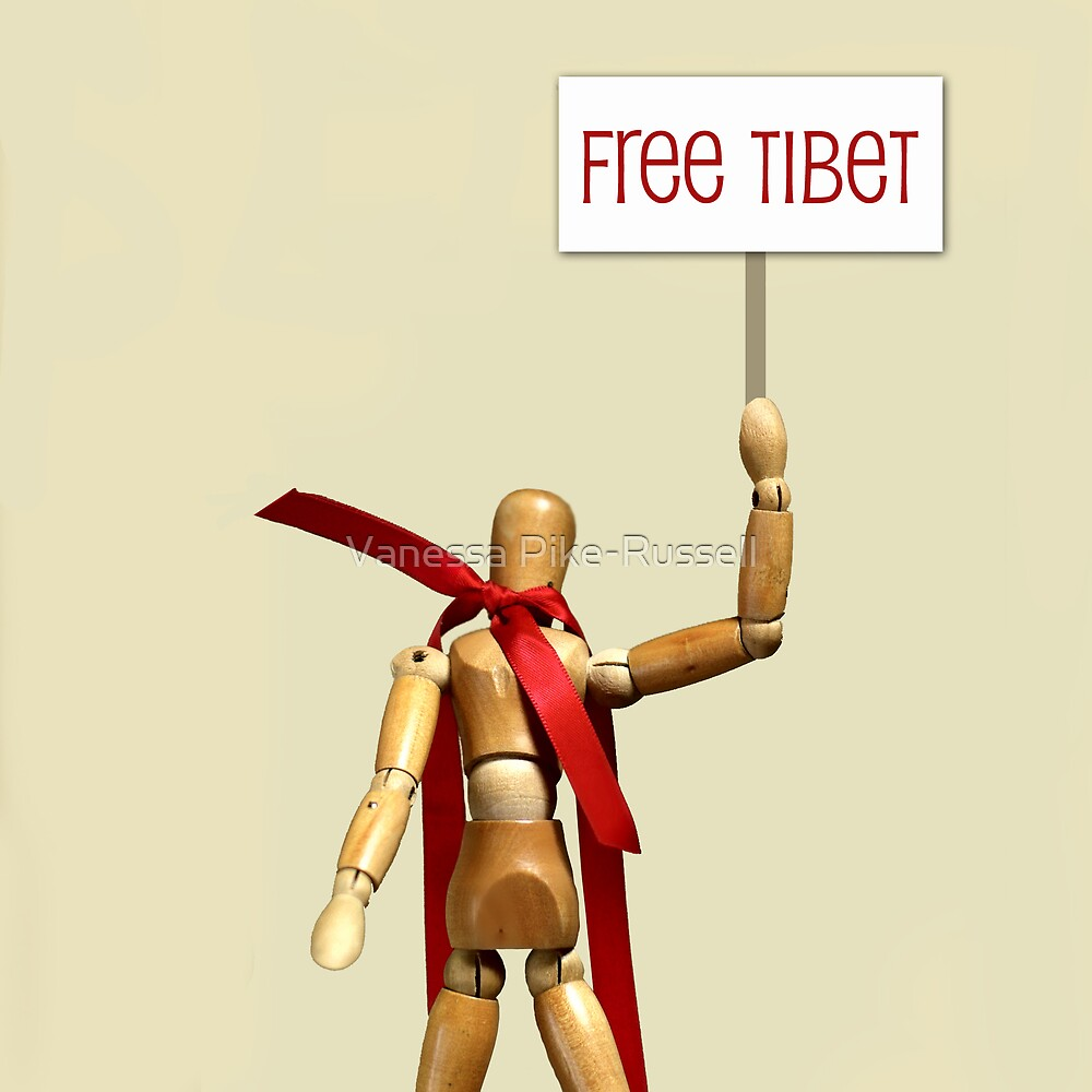 Canon5 - ribbon - Free Tibet by Vanessa Pike-Russell