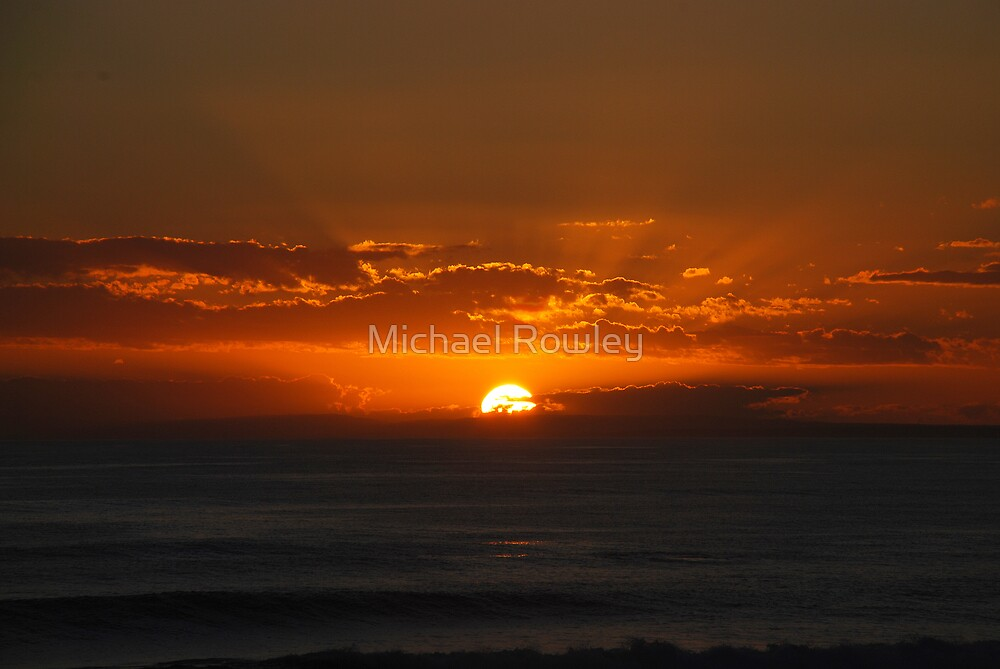 Exploding Sunset by Michael Rowley