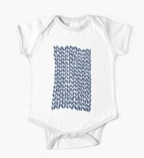 Hand Knit Zoom Navy One Piece - Short Sleeve