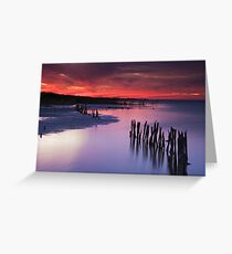 Lake Albert Sunset Greeting Card