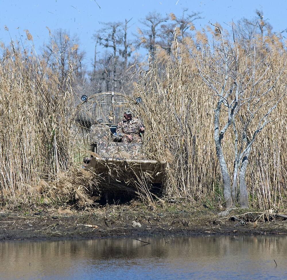 Camo airboat  by Bill Perry