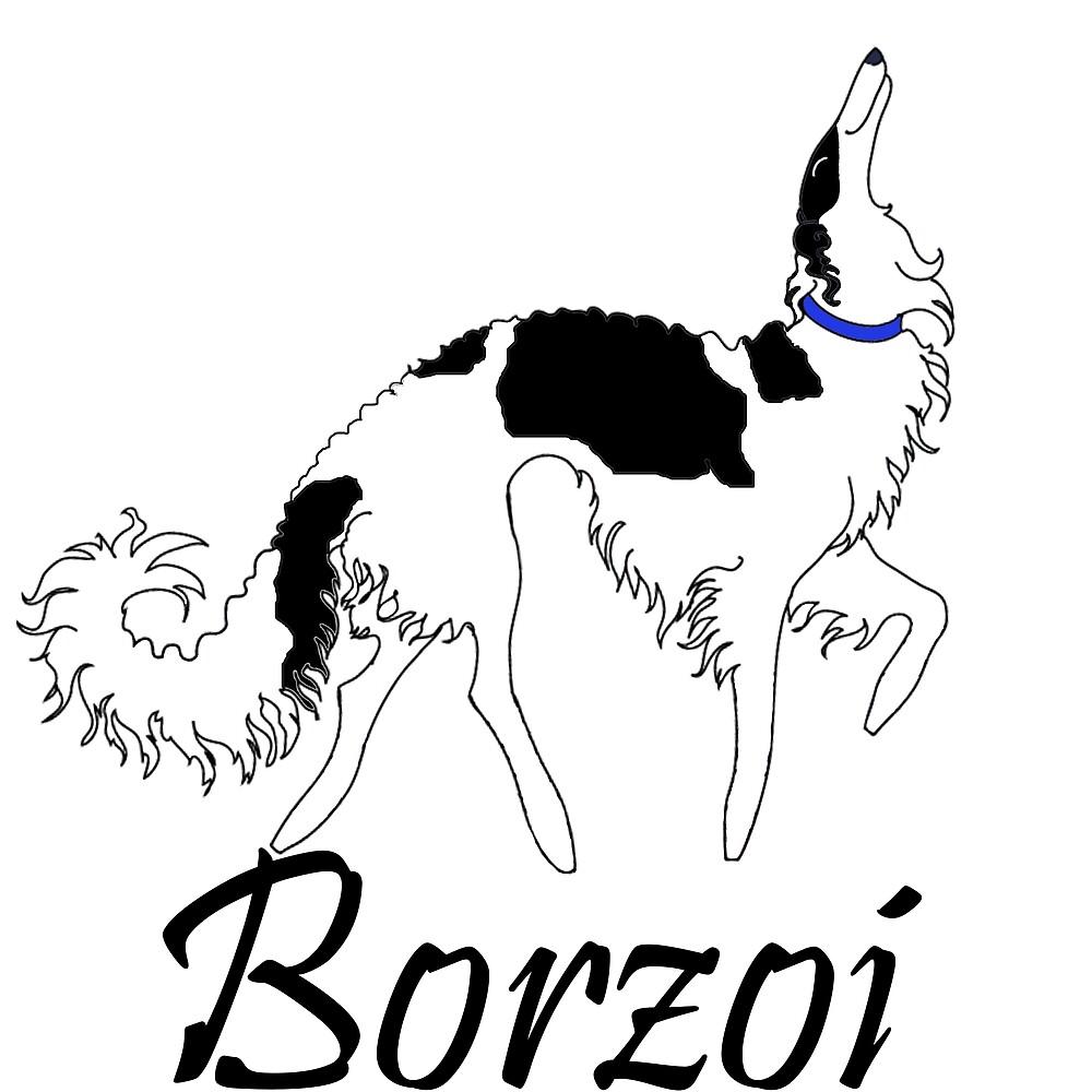 Tri Borzoi by Happy Dog Swag