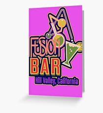 Fusion Bar Hill Valley Greeting Card
