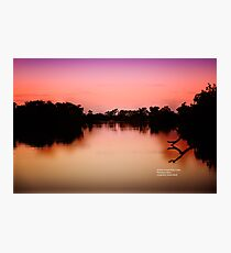 Sunset on the River Photographic Print
