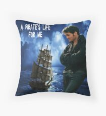 Killian Jones~ A Pirate's Life For Me Throw Pillow