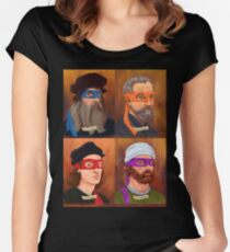 The Renaissance Ninja Artists Women's Fitted Scoop T-Shirt