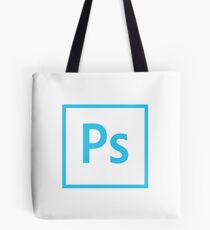 Photoshop Logo - Blue Outline (Transparent) Tote Bag