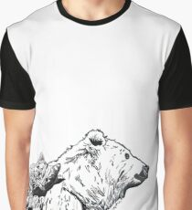 Bear and Kitty are Friends Graphic T-Shirt