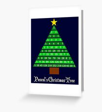 Pascal's Christmas Tree Greeting Card