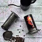 Coffee and Maps Series: Custom Soundgarded Aeropress by bikehikebrew