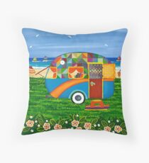 Caravan Holiday ~ Bobby-Ray Throw Pillow