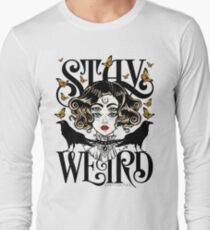 Rose and The Ravens {Stay Weird} Colour Version Long Sleeve T-Shirt