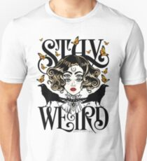 Rose and The Ravens {Stay Weird} Colour Version Unisex T-Shirt