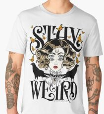 Rose and The Ravens {Stay Weird} Colour Version Men's Premium T-Shirt