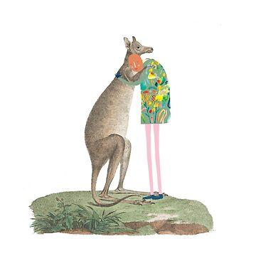 Hugs - based on John White's Kangaroo by JessesMess