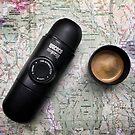 Coffee and Maps Series: Minipresso Espresso maker by bikehikebrew