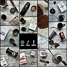 Coffee and Maps Series: Complete Collage by bikehikebrew