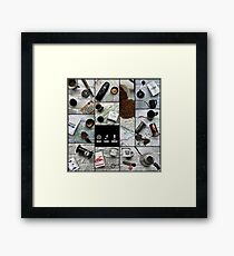 Coffee and Maps Series: Complete Collage Framed Print