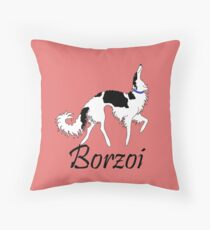 Tri Borzoi Throw Pillow