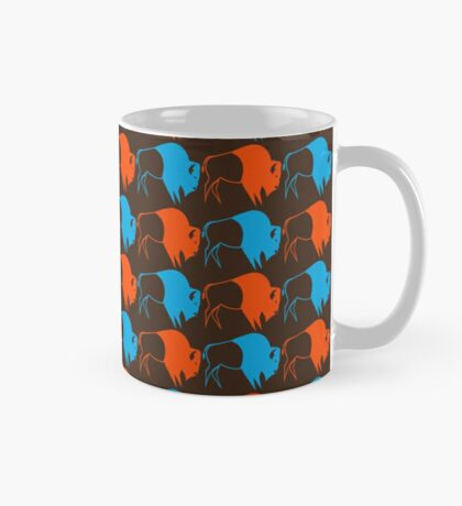 Orange Blue Buffalo Nation Mug