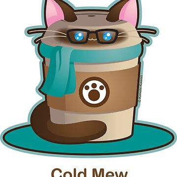 Purrista Pawfee: Cold Brew Hipster Cat by kimchikawaii