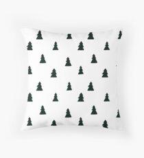 Schwarzes modernes Weihnachtsbaum-Muster Kissen