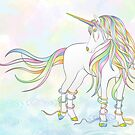 Unicorn in Rain Shower by Lesley Smitheringale