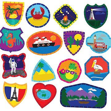 Travel Patches by JohnDC