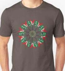 Electric Guitar Holiday Wreath T-Shirt