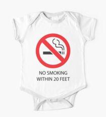 No smoking One Piece - Short Sleeve
