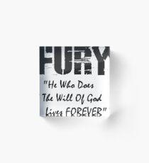 FURY Movie - Brad Pitt WW2 - Bible Quote Acrylic Block