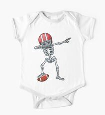 Dabbing Skeleton Football Halloween T Shirt Costume Gifts Kids Clothes