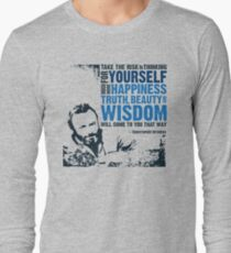 Christopher Hitchens: Think For Yourself Long Sleeve T-Shirt