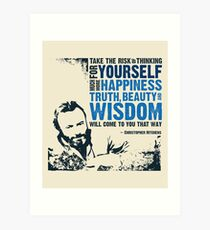 Christopher Hitchens: Think For Yourself Art Print