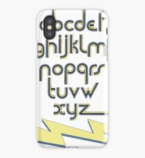 Electric Alphabet  iPhone Case/Skin