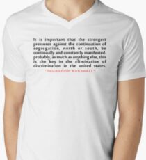 """It is important...""""Thurgood Marshall"""" Inspirational Quote Men's V-Neck T-Shirt"""