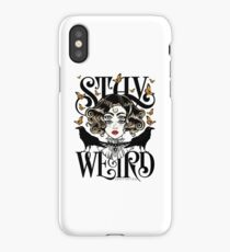 Rose and The Ravens {Stay Weird} Colour Version iPhone Case/Skin
