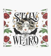 Rose and The Ravens {Stay Weird} Colour Version Wall Tapestry