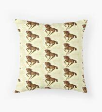 Running Wild Horse  Throw Pillow