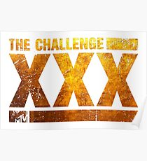 The Gold Logo Of The Challenge Series Poster