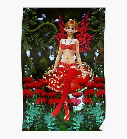 Poppy Fairy -- Collaboration with Enchanted Dreams Poster