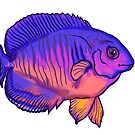 Coral Reef Beauty, Tropical Fish, Purple Pink Orange by clipsocallipso