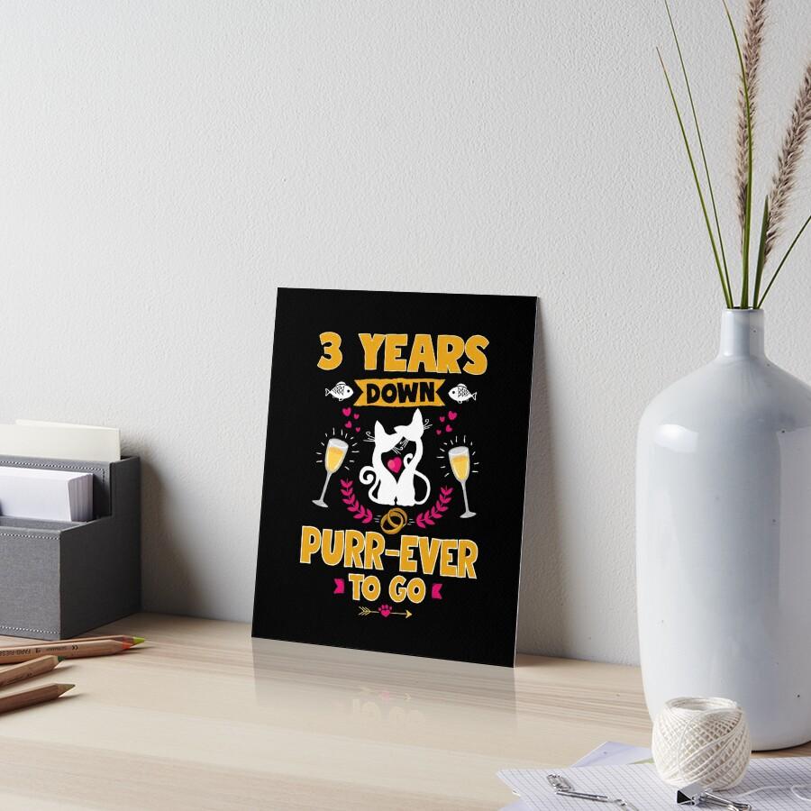 Geschenk Zum 3 Hochzeitstag | 3 Hochzeitstag Funny Pun Cat Lover Geschenk Galeriedrucke Von