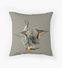 Pintail Duck in a flap Throw Pillow