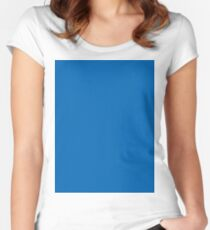 Electric Blue Lemonade solid colour Women's Fitted Scoop T-Shirt